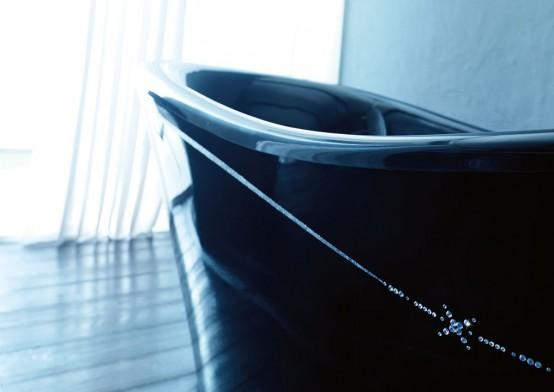 Modern Black Bathtubs By Gruppo Treesse