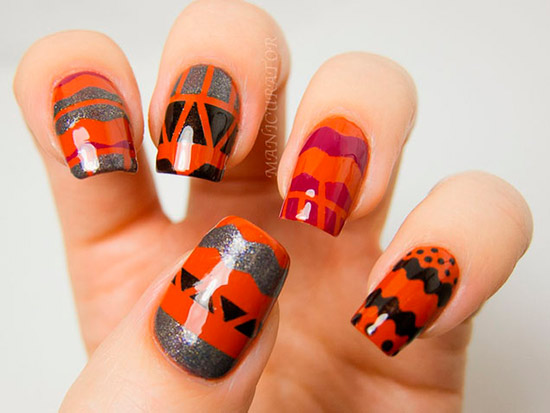 10 Fall 2013 Best Nail Art Designs
