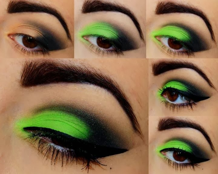Hot Electric Green Eyeshadow Tutorial