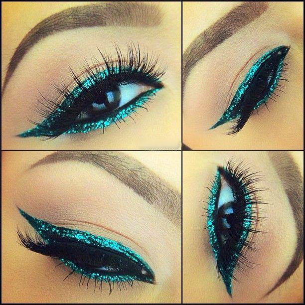 Glitter Blue Eyeliner Tutorial