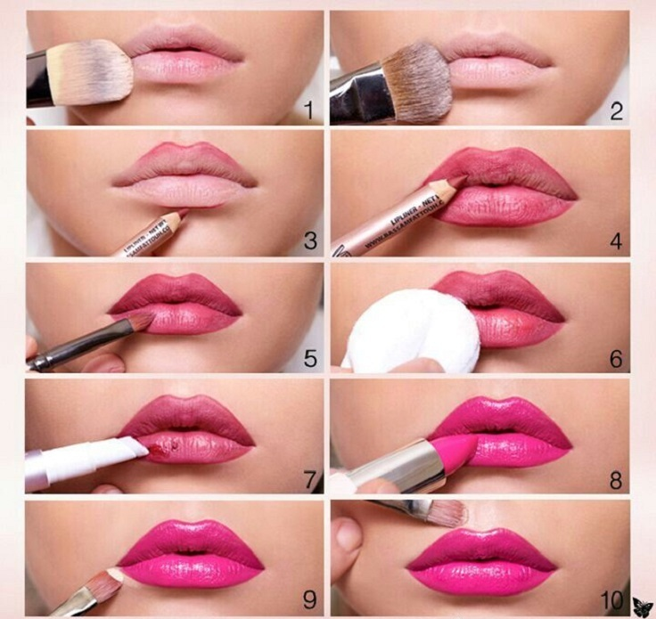 How to Apply Hot Pink Lipstick