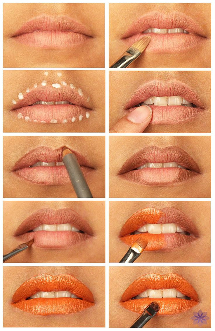 How to Apply Orange/Bronze Lipstick